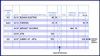 Checkbook Balance Worksheet