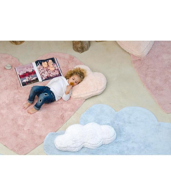 tapis nuage bleu c puffy dream lavable en machine lorena canals