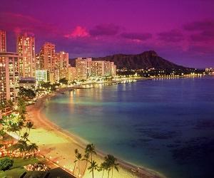 Waikiki at Dusk, Hawaii