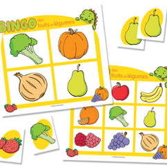 Tables And Chairs For Toddlers Amazon Dining Bingos 3 En 1 - Bingo Des Fruits Et Légumes (french Only) Brault & Bouthillier
