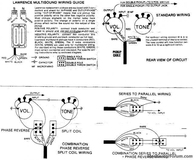 Bill Lawrence Pickups Wiring Diagram : 36 Wiring Diagram