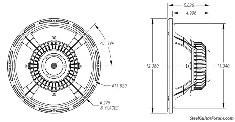 New Telonics NEO 8 ohm, 12 Inch Speaker Released : The