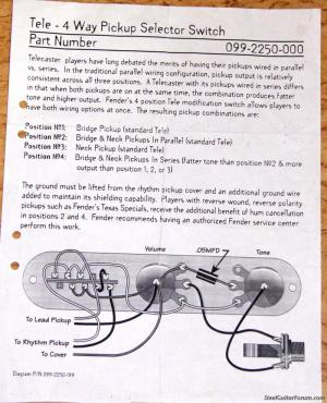 The Steel Guitar Forum :: View topic  Tele 4 way switch