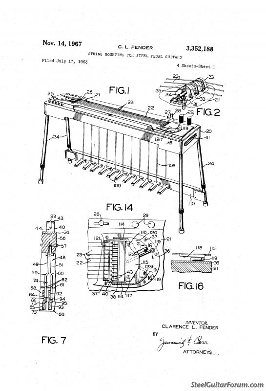Morning Puzzle: Fender PSG Patent Illustration : The Steel