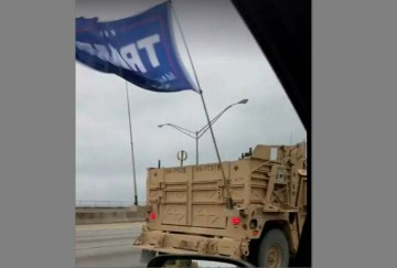 Navy Special Warfare Unit Flew Trump Flag In Convoy