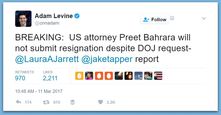 U.S. Attorney Preet Bharara Refuses To Resign On Trump's Request... Gets Fired!