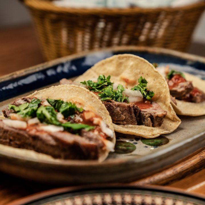 grass fed beef steak tacos