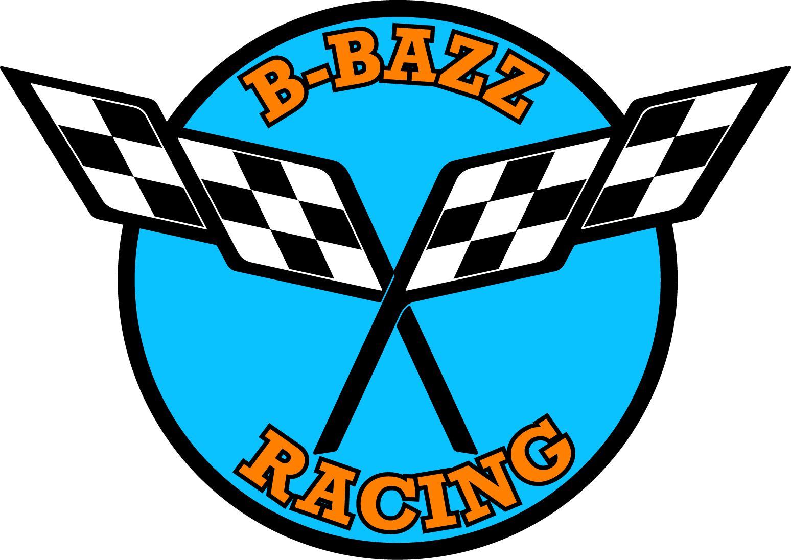 B-Bazz bbazz racing logo with Anguilla Colors