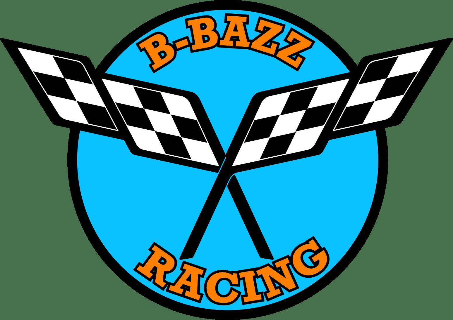 B-Bazz bbazz racing logo with Anguilla Colors
