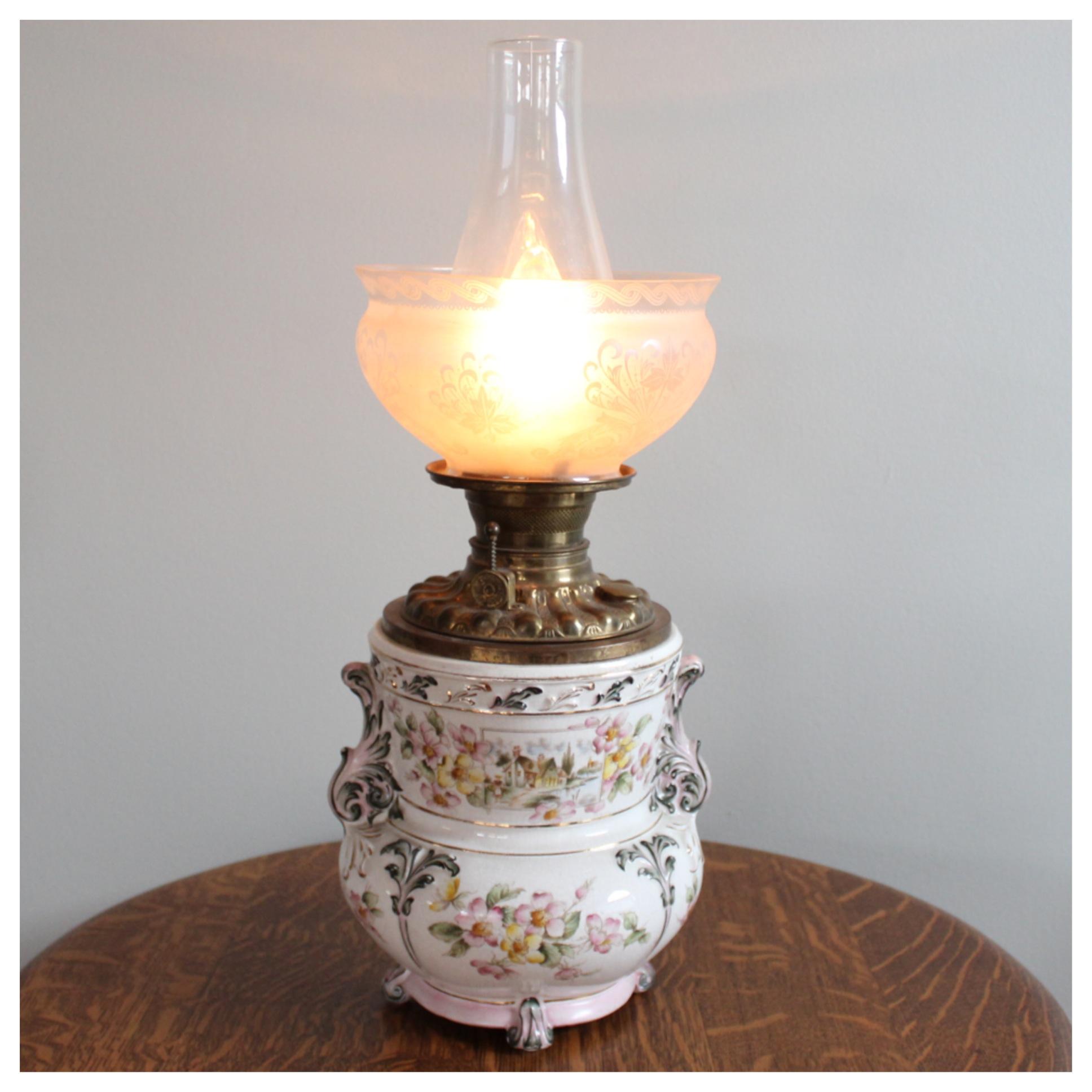 A1774 Pottery Table Lamp Bogart Bremmer Amp Bradley Antiques