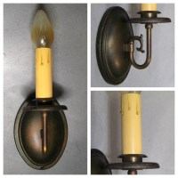 #A7916 Single Candle Wall Sconce   Bogart, Bremmer ...