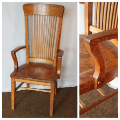 Tall Desk Chairs With Backs Pop Up High Chair F4458 Office Bogart Bremmer And Bradley Antiques