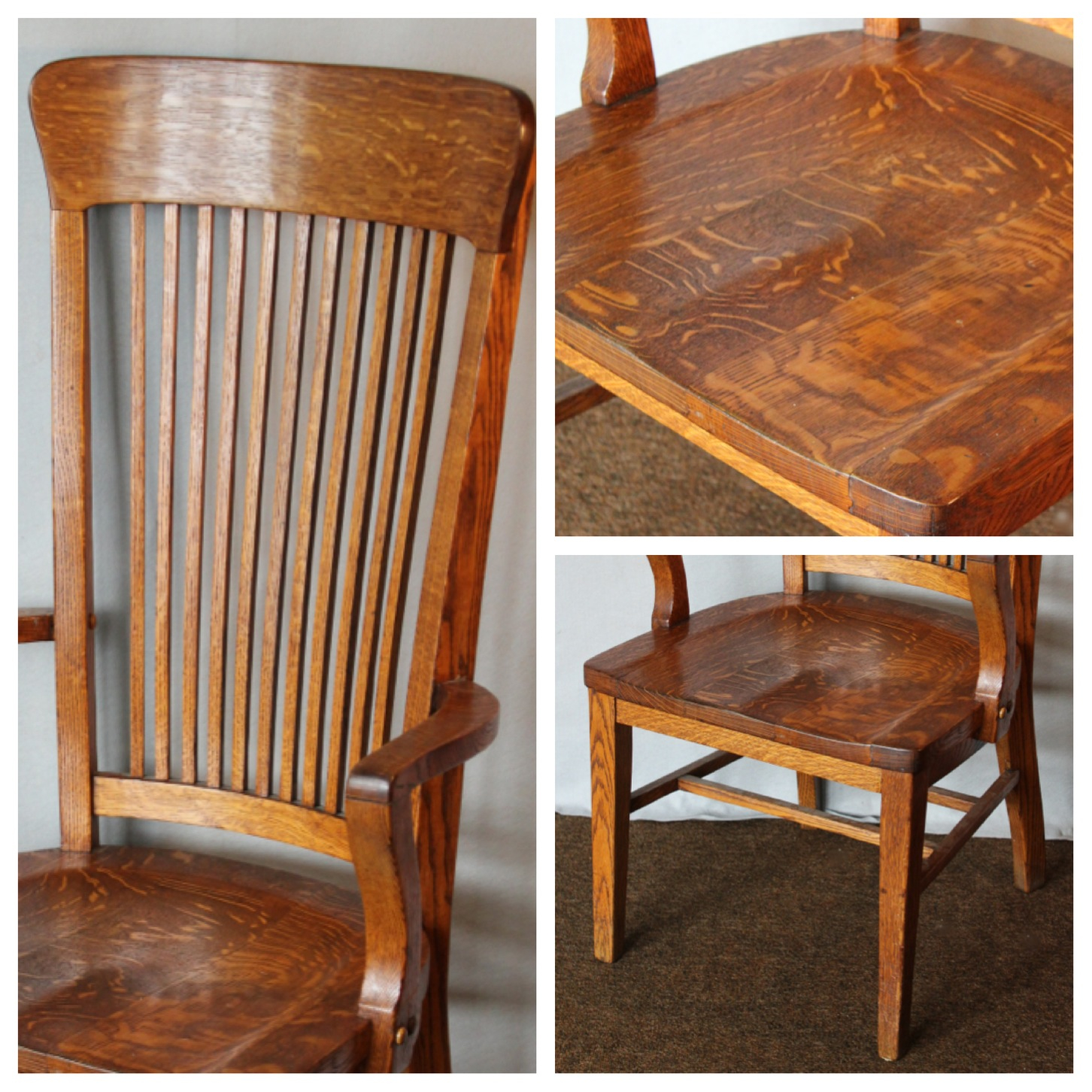 tall desk chairs with backs chair vintage leather f4458 office bogart bremmer and bradley antiques