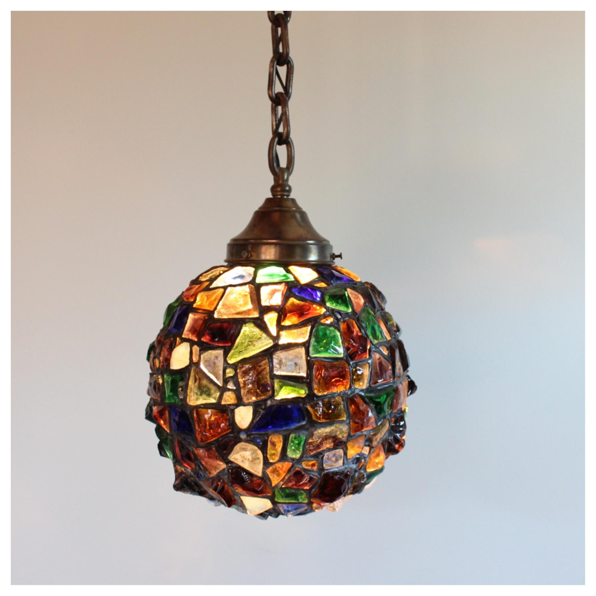 A8086 Austrian Chunk Glass Globe Bogart Bremmer