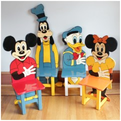 Mickey Mouse Chairs And Table La Z Boy Chair Parts F3136 Set Of 4 Child Bogart