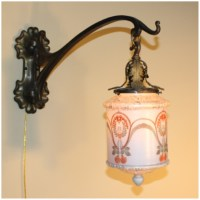 #A8299 Pair Art Nouveau Wall Sconces