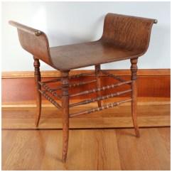 Vintage Vanity Chair High Office For Standing Desk F4475 Oak Bench Bogart Bremmer And Bradley Antiques