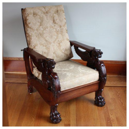 F3320 Mahogany Morris Chair  Bogart Bremmer  Bradley