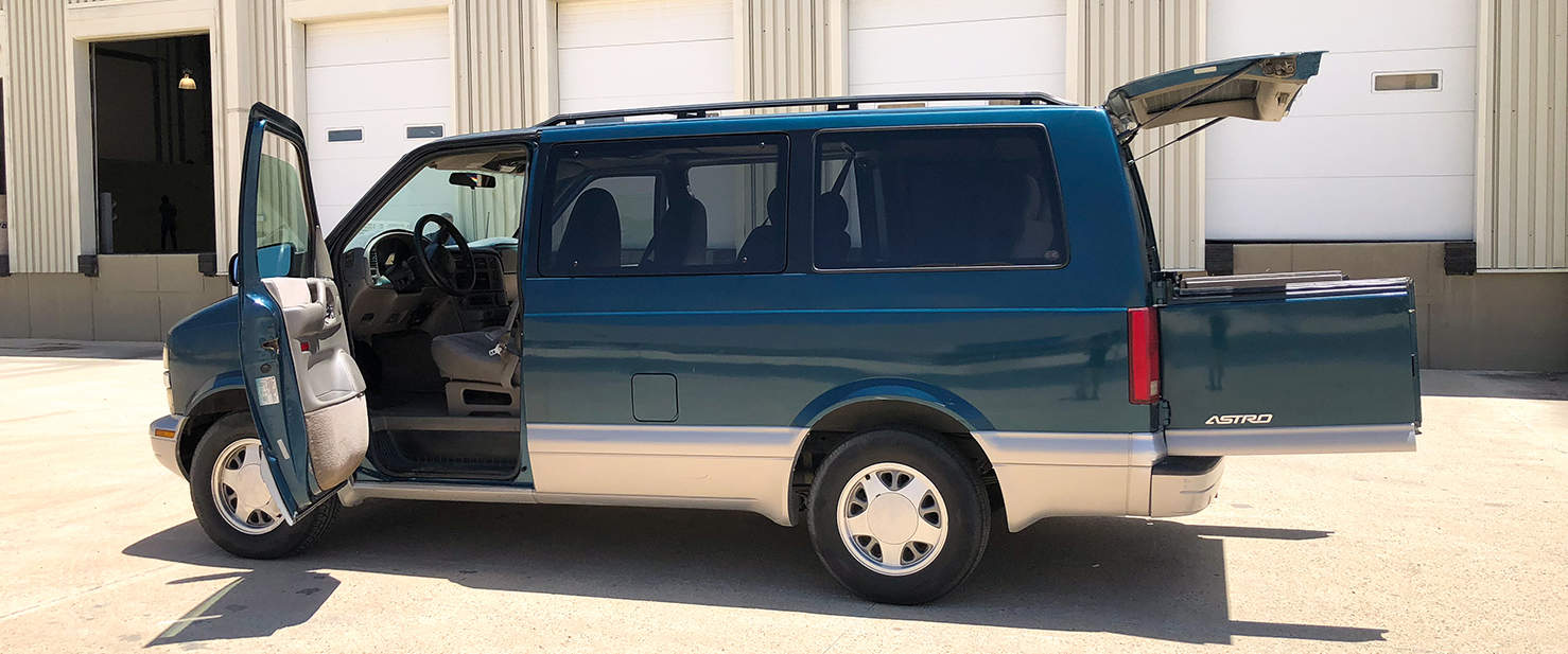 hight resolution of our awd chevy astro is big inside strong and a safe ride but not a fancy one