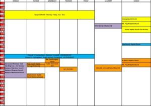 Comcast Schedule 2014
