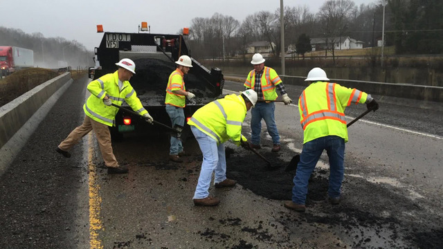 It's Pothole Season – TDOT working to repair damaged areas