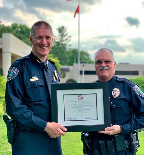 Oak Ridge Police Department Earns Accreditation from TLEA