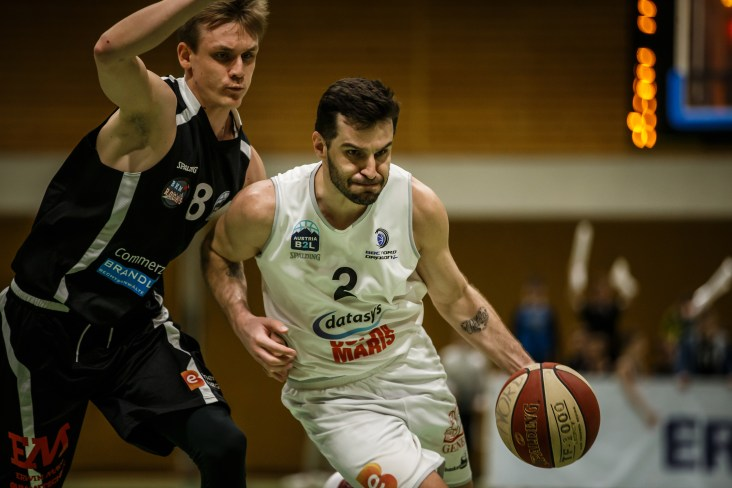 29.02.2020 Basketball Basketball Zweite Liga Playoffs: Viertelfinale 2. Spiel BBC Nord Dragonz vs. Mattersburg Rocks Im Bild: Petar Cosic (2) Copyright: Pictorial / S.Proell office@pictorial.at www.pictorial.at