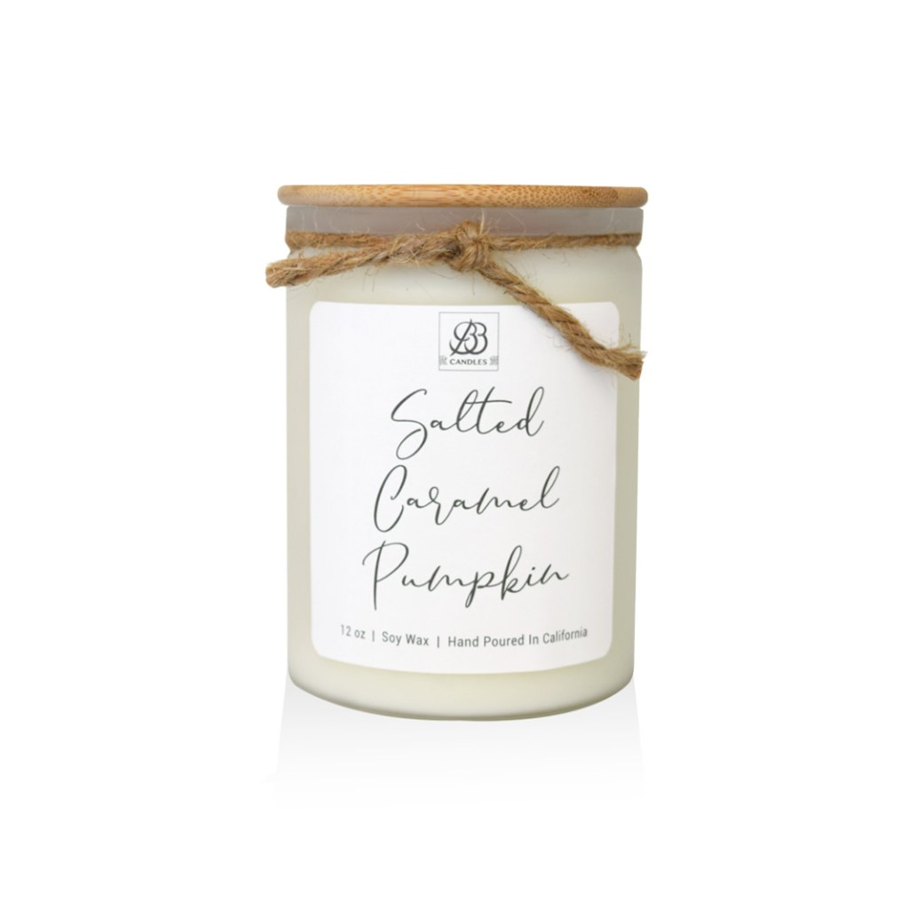 salted caramel pumpkin candle
