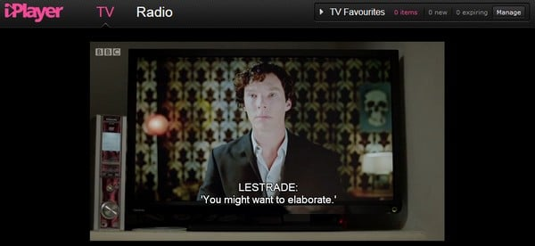 Sherlock on BBC iPlayer
