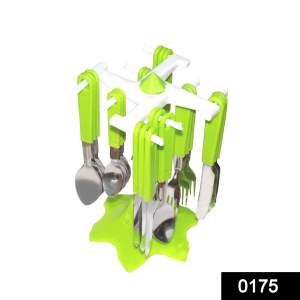24 Piece Stainless Steel Premium Cutlery Set With Stand