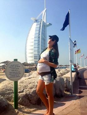MIchelle Brooks model pregnancy beauty