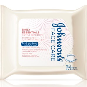 Johnson's Face Care Daily Essentials EXTRA SENSITIVE Cleansing Wipes