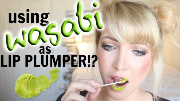 wasabi lip plumper Worst beauty advice on social media