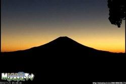富士山・七面山(2010年11月3日5:46)