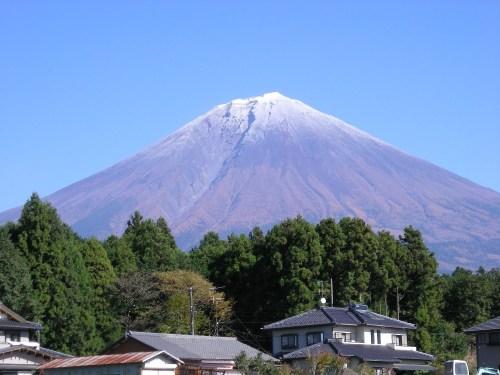 実家から見える富士山(2010年11月9日)