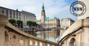 Panorama view at the city hall Hamburg - Germany - Taken with Canon 5DmkII