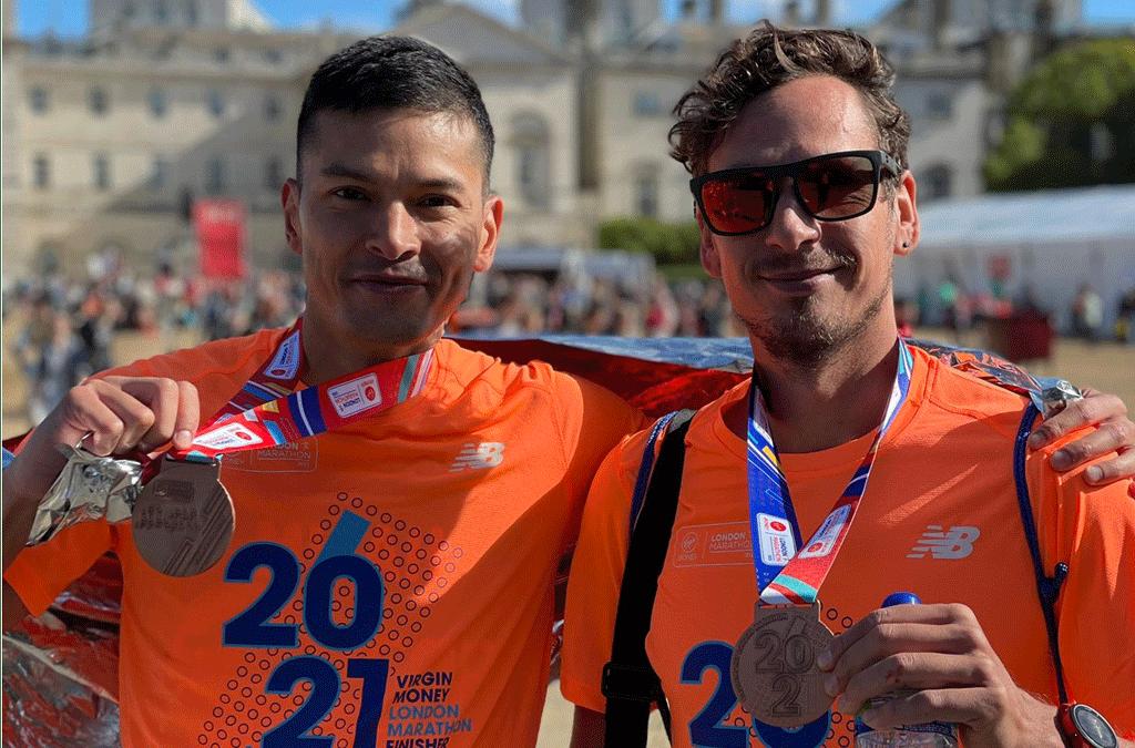 BBHAC Athletes in London Marathon Action