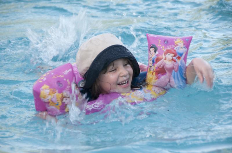 Eloise in the pool.