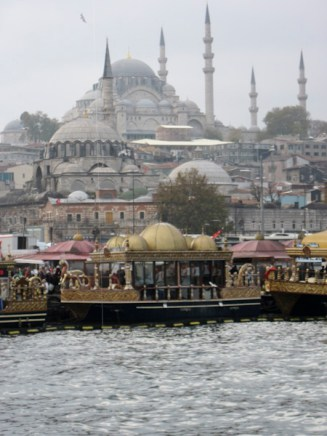 Floating fish restaurants Istanbul