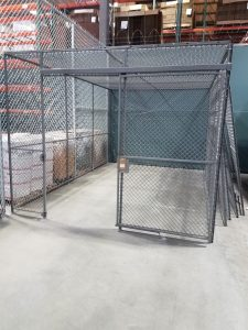 Calwire cage, cage with ceiling, storage cage, calwire storage