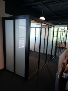 Glass wall panel