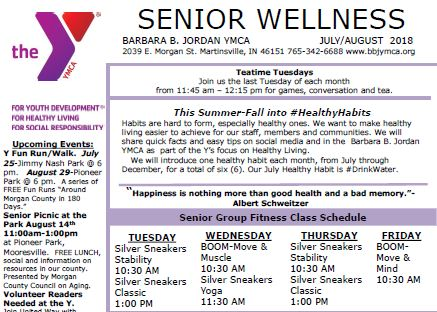 July August 2018 Senior Newsletter