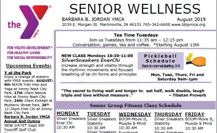 August 2019 Senior Newsletter