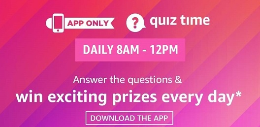 Amazon Quiz 21st July 2020 Answer