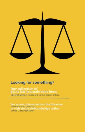 Law journals poster