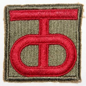 G007. WWII 90TH INFANTRY DIVISION PATCH, D-DAY UNIT
