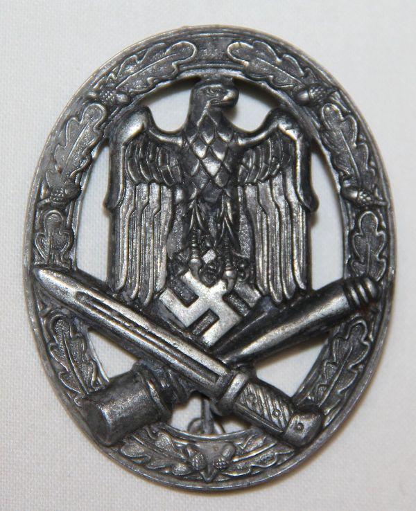 Q004. WWII GERMAN GENERAL ASSAULT BADGE, FRANK & REIF STUTTGART