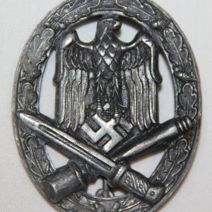 Q004. WWII GERMAN GENERAL ASSAULT BADGE, FRANK & REIF STUTTGART