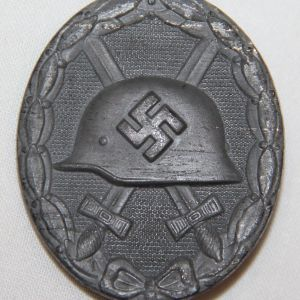 "Q002. WWII GERMAN SILVER WOUND BADGE, HALLMARKED ""26"""