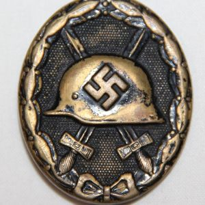 Q008. WWII GERMAN BLACK WOUND BADGE